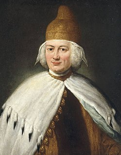 Paolo Renier 119th, and penultimate, Doge of Venice