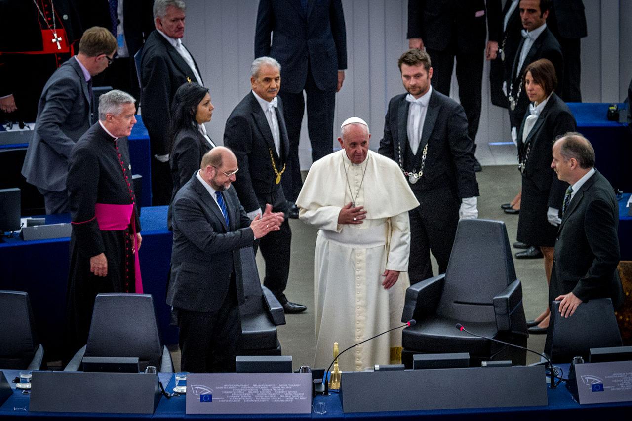 Pape François Parlement européen Strasbourg 25 nov 2014 27.jpg