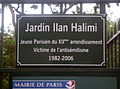 Paris, Jardin Ilan-Halimi, Plaque.jpg