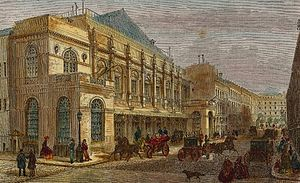 French opera - The Salle Le Peletier, home of the Paris Opera during the middle of the 19th century