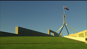 Capital Hill, Australian Capital Territory - Parliament House Canberra: the hill recreated over the building