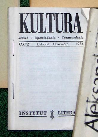 Jerzy Giedroyc - A well-thumbed copy of Kultura, 1984