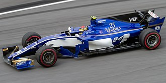 Pascal Wehrlein - Wehrlein driving for Sauber at the 2017 Malaysian Grand Prix
