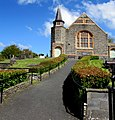 Path ascending to Brondeifi Unitarian Christian Church, Lampeter (geograph 6154909).jpg