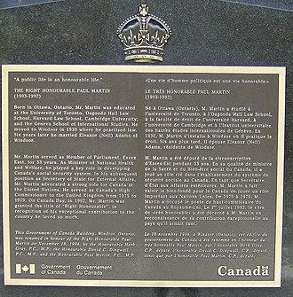 Paul Martin Sr. Building - Dedication plaque.