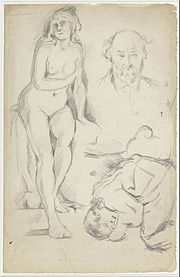 Paul Cézanne - Studies of Three Figures, Including a Self-portrait - Google Art Project.jpg