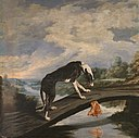 Paul de Vos - Fable of the dog and the dam.jpg