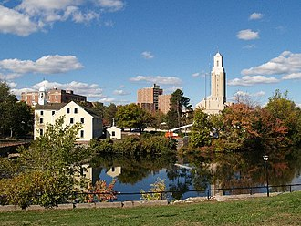 Pawtucket, Rhode Island - Downtown across the Blackstone River