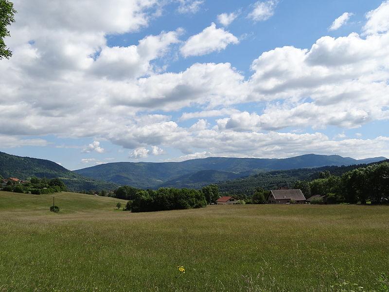 Paysage d'Échallon et sur la vallée alentours.