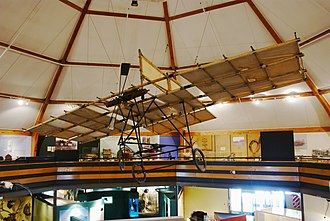 Richard Pearse - A replica aeroplane on display at the South Canterbury Museum in Timaru