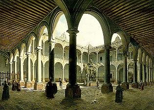 Pedro Gualdi, Interior of the Royal and Pontificial University of Mexico, ca. 1840