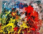 Pedro Meier – Kunsthaus Grenchen Solo-Ausstellung – »Flugbilder Atlantikflug Charles Lindbergh – Nr. 06«– »Bilder der letzten 15 Jahre«, 1995. Foto © Pedro Meier Multimedia Artist.jpg