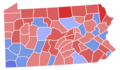 Pennsylvania Senate Election Results by County, 1950.png