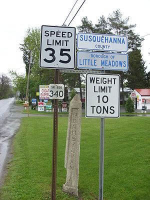 Little Meadows, Pennsylvania - Entering Little Meadows from New York