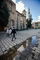 People walking on Selimiye Square, Nicosia.jpg