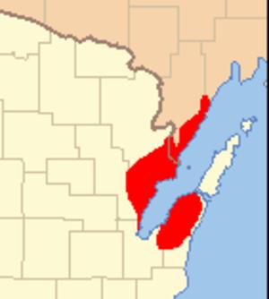 Peshtigo Fire - Extent of wildfire damage