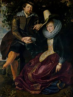 Peter Paul Rubens - Rubens en Isabella Brant in de Kamperfoelie Bower