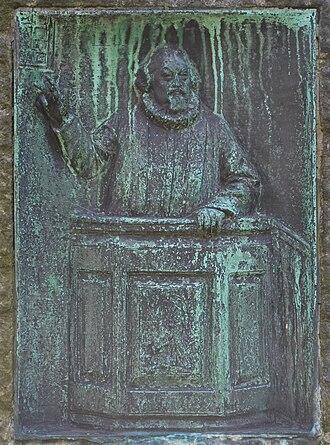 Petter Dass - Petter Dass relief   by Ambrosia Theodora Tønnesen   Bergen Cathedral