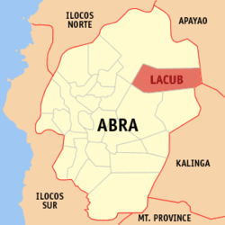 Map of Abra showing the location of Lacub