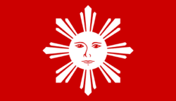 Ito ang unang opisyal na watawat na naglayong irepresenta ang bansa