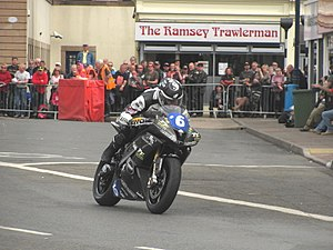 TT Zero - 2014 Isle of Man TT Mark Miller (6) VercarMoto, TT Zero Race at Parliament Square, Ramsey, 4 June 2014