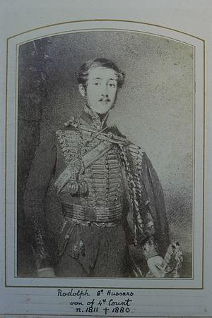 Rodolphus de Salis - Photo of Sir David Wilkie's sketch of Lt. Rodolph De Salis.