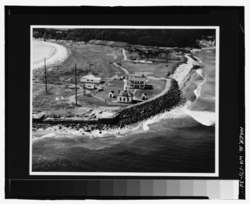 Photocopy of aerial photograph (original print located in the U.S. Coast Guard, Civil Engineering Unit, Oakland, Calif.) General view of the light station - Point Wilson Light Station, HAER WA-171-34.tif