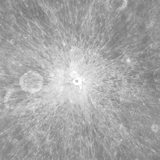Ray system - Pierazzo crater (Mosaic of Clementine images)