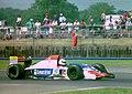 Pierluigi Martini - Minardi M194 at the 1994 British Grand Prix (32162212460).jpg