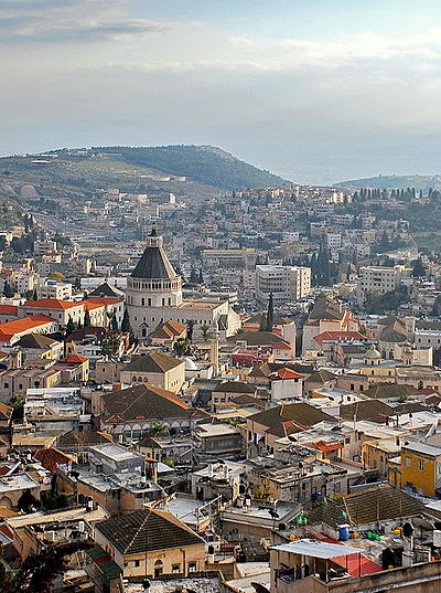 "Nazareth is described as the childhood home of Jesus. Many languages employ the word ""Nazarene"" as a general designation for those of Christian faith. PikiWiki Israel 17818 Cities in Israel.jpg"