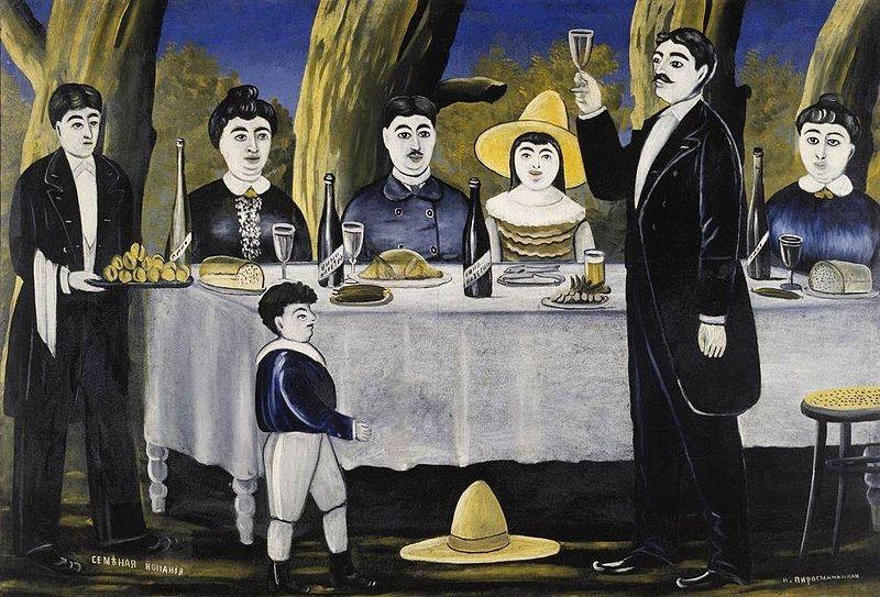 Tamadá en una fiesta familiar. Pintura de Niko Pirosmanashvili.