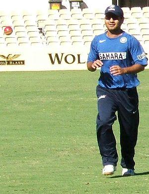 Piyush Chawla - Chawla at fielding practice.