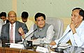 Piyush Goyal addressing a press conference after his Meeting with the Heads of the Public Sector Banks (PSBs) from Northern and Eastern Regions, in New Delhi.JPG
