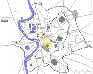 Basilica Porcia - Location of the Basilica Porcia on a map of ancient Rome