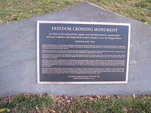 Freedom Crossing Monument - Plaque at Freedom Crossing Monument