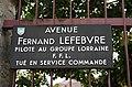 Plaque Avenue Fernand Lefebvre (Poissy).JPG