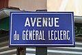 Plaque avenue du Général-Leclerc, Les Clayes-sous-Bois, Yvelines.jpg