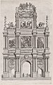 Plate 19- Triumphal arch, elevation of the front, surmounted by a cloud bearing Ferdinand and royal ancestors; from Guillielmus Becanus's 'Serenissimi Principis Ferdinandi, Hispaniarum Infantis...' MET DP874823.jpg