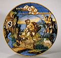 Plate with Hercules and Lichas and arms of the Pucci family MET ES169.jpg