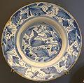 Plate with deer, Teruel, Spain, late 17th to early 18th century AD, ceramic - Museo Nacional de Artes Decorativas - Madrid, Spain - DSC08198.JPG