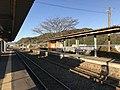 Platform of Toyotsu Station (Tagawa Line) 2.jpg