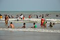Playful People with Sea Waves - New Digha Beach - East Midnapore 2015-05-01 8710.JPG