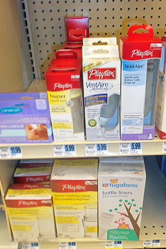 Playtex - Image: Playtex bottle liners on sale