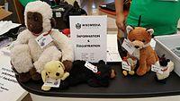 Plush toys registration desk Wikimedia Hackathon 2017.jpg