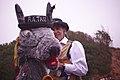 Plymouth Morris' Hobby Horse at Sidmouth Folk Festival.jpg