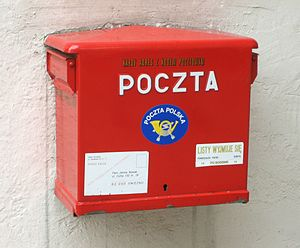 Poczta Polska - Image: Poczta Polska Mailbox