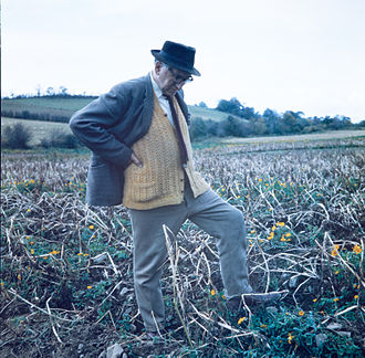 "Patrick Kavanagh - The poet ""pondering the Stony Grey Soil of Monaghan at his native Inniskeen"" in 1963."
