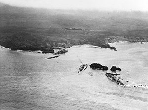 Five destroyers on the rocks at Honda Point, 1923