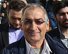 Political debate in Zanjan university between zibakalam and moghadam in 2017 by Mardetanha (111) (cropped).jpg