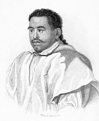 Pōmare II - Image: Pomare II, engraving by R. Hicks (left)